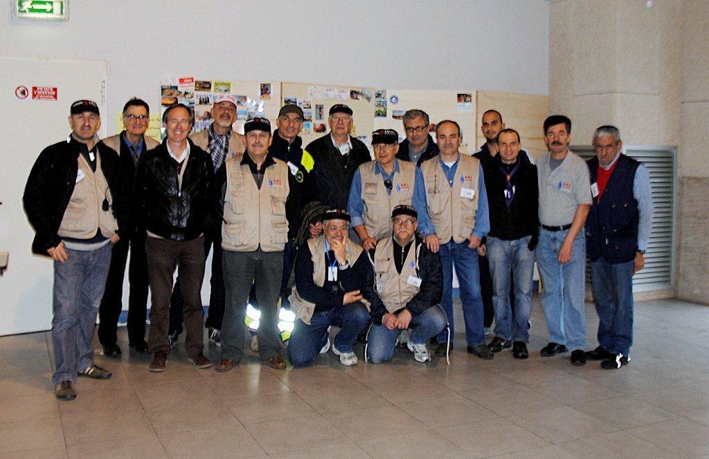 Parte del gruppo organizzatore al termine dell\'evento