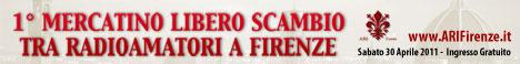 Banner Mercatino Libero Scambio Radioamatori Firenze